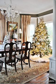 Christmas Decorations & Tree - this would be great in my bay window in the dining room.