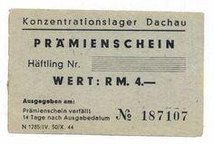GERMANY  4 RM (1943-1944) -UNC  WORLD WAR II - Camp DACHAU , Extremely rare! http://www.ebay.com/itm/GERMANY-4-RM-1943-1944-UNC-WORLD-WAR-II-Camp-DACHAU-Extremely-rare-/161401646520?pt=Paper_Money&hash=item259449adb8