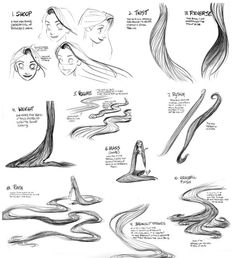How to draw Rapunzel's hair