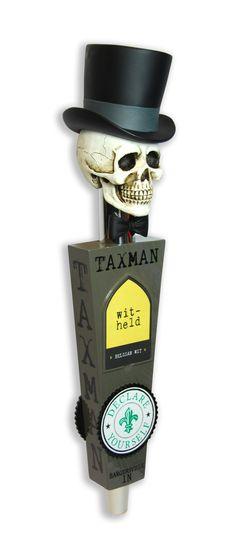Taxman Brewing custom tap handle