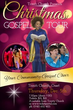 Church Concert Poster Template Event Flyer Templates Flyers Posters Invitation