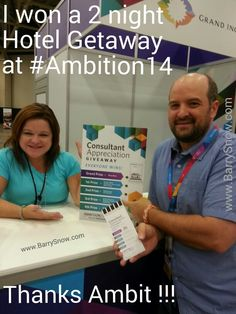 I won a 2 night Hotel Getaway Package at #Ambition14 !! Thanks Ambit Energy !! .:. Message me to find out how to get one of these Getaway Packages for yourself.