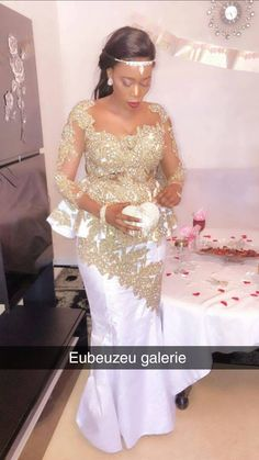 Soutenance African Bridesmaid Dresses, Short African Dresses, African Wedding Attire, Latest African Fashion Dresses, African Attire, Latest Bridal Dresses, Evening Dresses For Weddings, Lace Dress Styles, African Traditional Dresses