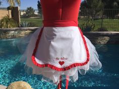 Valentines Day Half Apron Overlay  Heart Apron Be by sassyapron