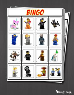 LEGO Movie Bingo Game- Set of 15! Instant Download! Message me through Pinterest if you are interested in purchasing this instant download!