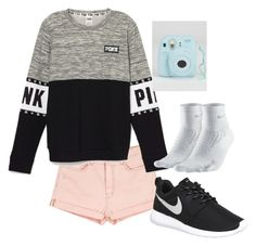 """Untitled #11"" by mayarose1704 ❤ liked on Polyvore featuring Current/Elliott and NIKE"