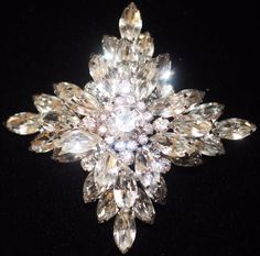Vintage Juliana Book Piece Maltese Cross Clear Crystal Rhinestone Figural Brooch | eBay