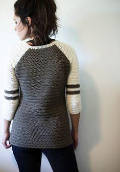Varsity - free crochet sweater patterns