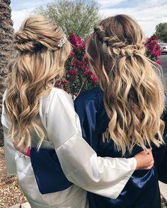 Half up and half down hairstyle #weddinghair #upstyle #halfuphalfdown #bridalhair #weddinghairstyle #halfdown #braidhair