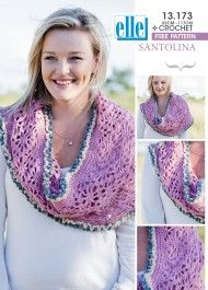 Elle Santolina makes this shaul beautifully! Knitting Patterns Free, Free Knitting, Free Pattern, Shawls And Wraps, Crochet Clothes, Knit Crochet, Crochet Necklace, Crafty, How To Make