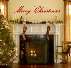 Merry Christmas ~ Christmas Wall Decals | Christmas Wall Decals http://www.designyourwall.com/store/merry-christmas-christmas-wall-decals-pr-6848.html