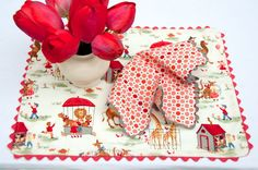 Aesthetic Nest: Sewing: Rickrack Place Mats and Napkins (Tutorial)