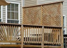 deck lattice ideas | lattice fencing for privacy on your deck