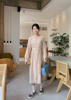 Korean Dress, Korean Style, Korean Fashion, Shirt Dress, Shirts, Dresses, Dressmaker, K Fashion, Vestidos