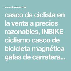 a2ce1b5f1d INBIKE ciclismo casco de bicicleta magnética gafas de carretera de montaña  cascos de bicicleta gafas de sol gafas de Ciclismo de 3 lentes casco de  bicicleta