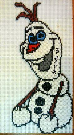 Olaf Frozen Disney hama perler beads by Deco.Kdo.Nat