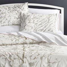 Marimekko Lumimarja Duvet Covers and Pillow Shams | Crate and Barrel