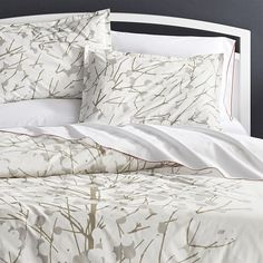 Marimekko Lumimarja Duvet Covers and Pillow Shams | Crate and Barrel
