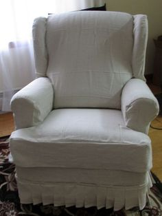 Reclining Chair Slipcover Cotton Off White Adapted For