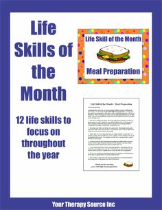 Your Therapy Source - www.YourTherapySource.com: Life Skill of the Month