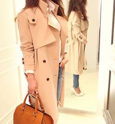 Simple Loose-fit Trench Coat