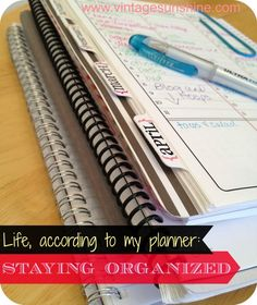 Life, according to my planner: Staying Organized