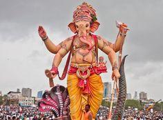 Mumbai's Ganesh Visarjan Day Celebrations Image Credit: By sandeepachetan (Own work) CC-BY-SA-2.0 (http://creativecommons.org/licenses/by-sa/2.0/), via Flickr