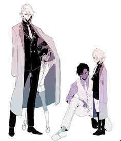 Anime Guys Anime Guy - Black and White Suits, Coat, and Hair Black And White Suit, White Suits, Anime Guys With Glasses, Hot Anime Guys, Anime Suit, Reference Manga, Guy Drawing, Manga Boy, Bioshock