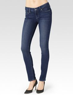 PAIGE® | Skyline Mid Rise Skinny Jeans in Cassie