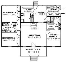 House Plan 3 bedroom 2 bathroom