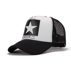 WC007 NEW 2016 new star pattern mesh baseball cap men hat mainstream hip-hop hat wholesale Brazil Gorras B191