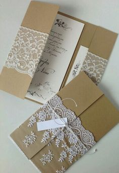 24 Ideas For Vintage Wedding Invitations Diy Lace Vintage Wedding Invitations, Diy Invitations, Wedding Stationary, Wedding Invitation Cards, Invitation Wording, Handmade Invitation Cards, Vintage Wedding Cards, Wedding Rustic, Trendy Wedding