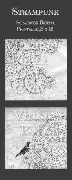 Steampunk Gear Scrapbook Paper