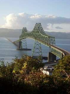 The Astoria-Megler Bridge - Astoria, Oregon. Crosses over Columbia River to Washington.