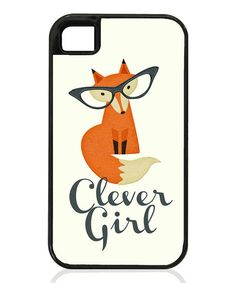 Look what I found on #zulily! Black Lining 'Clever Girl' Case for iPhone & Galaxy S #zulilyfinds