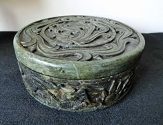 Vintage Chinese Box Carved Stone Dragon // by ArtsCollectiblesbyKT, $475.00