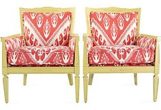 Great chairs, hideous fabric