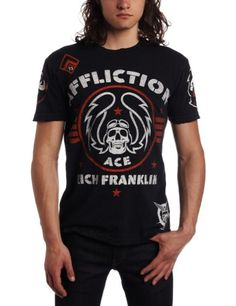 Affliction Men's Rich Franklin Tee,Black,X-Large: Amazon.com: Clothing