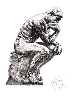 the thinker drawing - Google Search