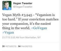 Pro vegan: If your conviction matches your compassion going vegan is the easiest thing in the world.