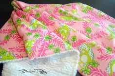 lilly pulitzer receiving blanket.