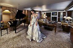 Bride getting ready in the Presidential Suite - Park Hyatt Melbourne - Wedding Venue
