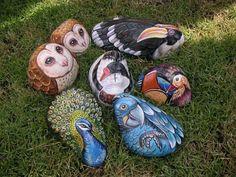 Rockpainting - Bird Group