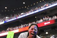 A die-hard fan at Reliant Stadium during the Houston Texans' playoff win over Cincinnati
