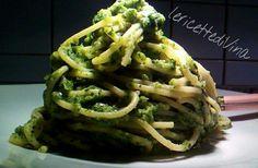 Spaghetti con pesto di zucchine
