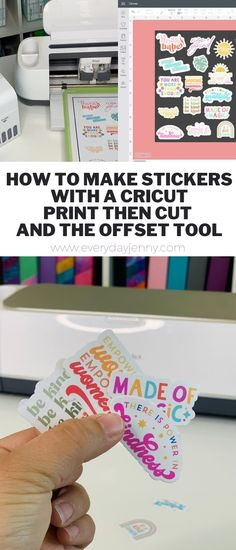 How To Make Stickers, Diy Stickers, Custom Stickers, Making Stickers, Sticker Ideas, Cricut Craft Room, Cricut Vinyl, Cricut Air 2, Sticker Shop