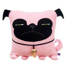 Pink Pug plushie by Velvet Moustache (ermahgerd!)