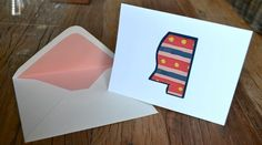 Set of 6 Mississippi Note Cards With Lined Envelopes // The Lovely Bee