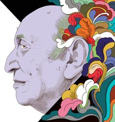 Famous for creating the I Love NY campaign, Milton Glaser talks art and politics. Funny Illustration, Graphic Design Illustration, Graphic Art, Milton Glaser, Bob Dylan Poster, Brewery Logos, Typography Prints, Cultura Pop, Psychedelic Art