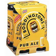 Direct from Manchester, England.  Perfectly pairs with fish and chips!  Boddington Pub Ale 4 -pk | World Market